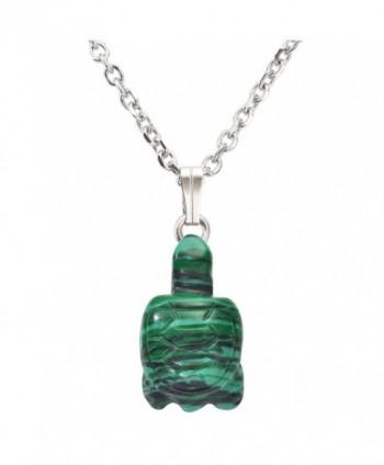 QGEM Natural Gemstone Tortoise Necklace