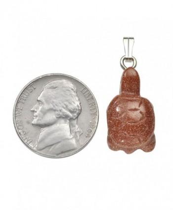 QGEM Natural Gemstone Tortoise Necklace in Women's Pendants