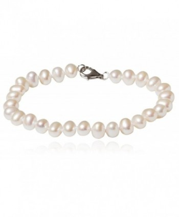 SilverLuxe Sterling Silver Genuine Freshwater Pearl Necklace /Bracelet 5-6mm - CZ184LYYQAD