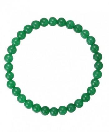 BRCbeads Gemstone Bracelets Gemstones Birthstone - Green Jade - CE12J5ZMDZ7