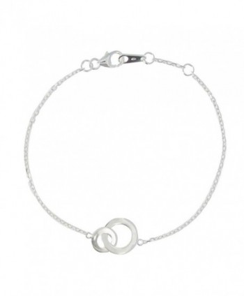Les Poulettes Jewels - Bracelet 2 Circles Sterling Silver - Adjustable Chain - CM116TO3R21