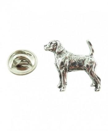 Creative Pewter Designs- Pewter Beagle Mini Pin- Antiqued Finish- D322MP - CA127C08IWJ