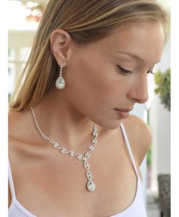 Mariell Sparkling Rhinestone Necklace Bridesmaids