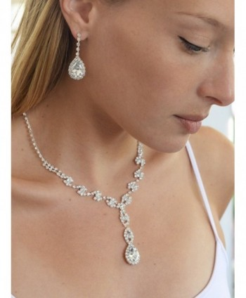 Mariell Sparkling Rhinestone Necklace Bridesmaids in Women's Jewelry Sets