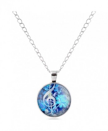 lureme Time Gem Series Fashion Silver Plated Disc Pendant Charm Necklace for Women and Girl (NLS002) - C112FNIKFEV