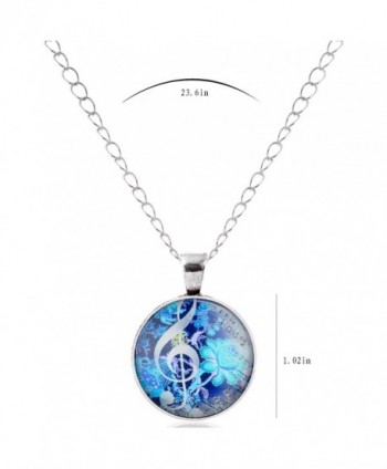 Fluorescent Flowers Musical Necklace 01003520 2