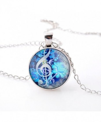 Fluorescent Flowers Musical Necklace 01003520 2 in Women's Pendants