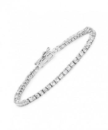 4.46 Carat Genuine White Topaz .925 Sterling Silver Bracelet - C1183CYXD7Y