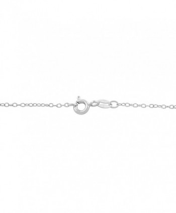 Sterling Silver Zirconia Birthstone Necklace