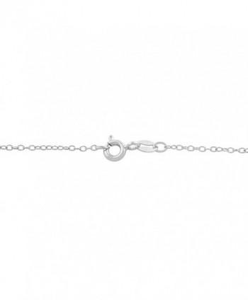 Sterling Silver Zirconia Birthstone Necklace
