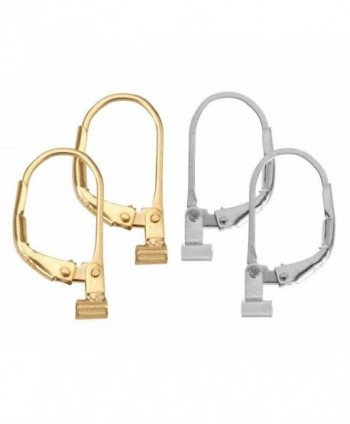 Convertiblez 2 Pair of Earring Converters Post to Lever Back 10k Gold Plated and Silver Alloy - C3121XSGMR9