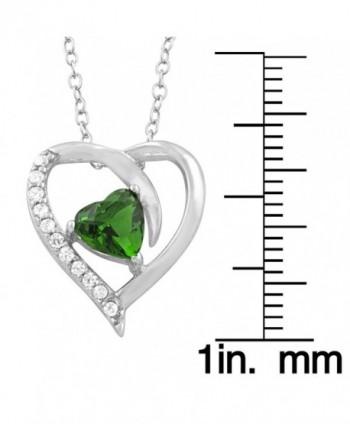 Sterling Silver Zirconia Birthstone Necklace in Women's Pendants