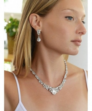 Mariell Glamorous Bridesmaids Necklace Earrings