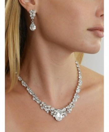 Mariell Glamorous Bridesmaids Necklace Earrings in Women's Jewelry Sets