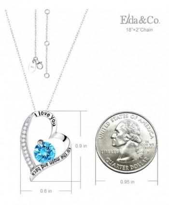 Birthday Aquamarine Swarovski Necklace Sterling