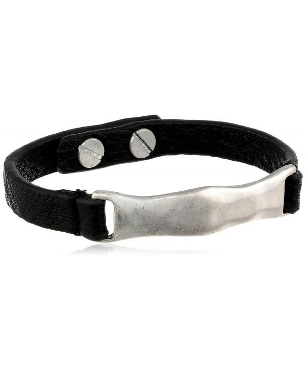 The Sak Womens Organic Leather ID Bracelet - Black/Silver - CR11GB9JH0F