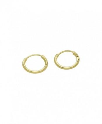 "14k Gold Small Endless Hoop Earrings for Ears- Cartilage- Nose or Lips- (0.4"" Diameter)-10mm - CL11TT48K11"