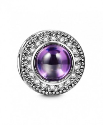 "Gifts for Her- NinaQueen ""Wishing Charms"" 925 Sterling Silver Purple Charms for pand&oumlra bracelets - CW12IFMNLMZ"