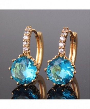 GULICX Yellow Acquamarine Crystal Earrings
