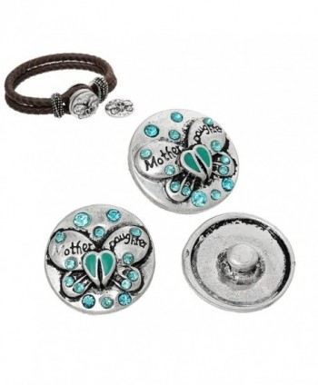 Choose Button Bracelets Daughter Butterfly