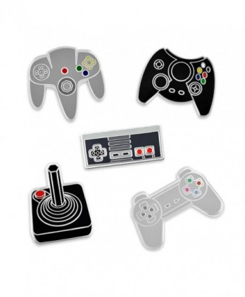 PinMart's Retro Video Gaming Original Controller Enamel Lapel Pin Set - CV17YST3QNL