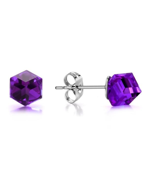J F%C3%A9e SISN Purple Aurora Borealis Earrings - Purple - CZ189O92WAR