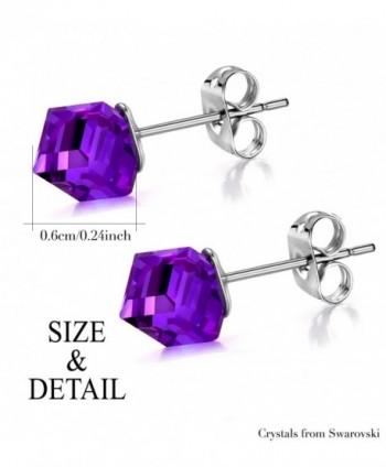 J F%C3%A9e SISN Purple Aurora Borealis Earrings