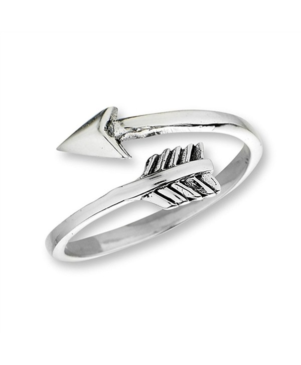 Open Shooting Arrow Thumb Ring New .925 Sterling Silver Band Sizes 5-10 - CA182EWZC0R