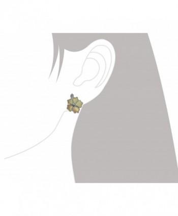 Sterling Silver Mother Hibiscus Earrings in Women's Stud Earrings
