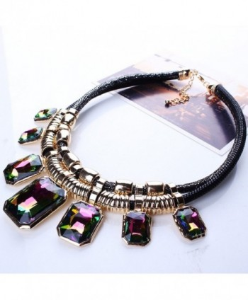 YAZILIND Colorful Pendant Statement Necklace in Women's Collar Necklaces