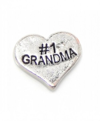 "Jewelry Monster ""1 Grandma Heart"" for Floating Charm Lockets - CJ11UISX3IR"