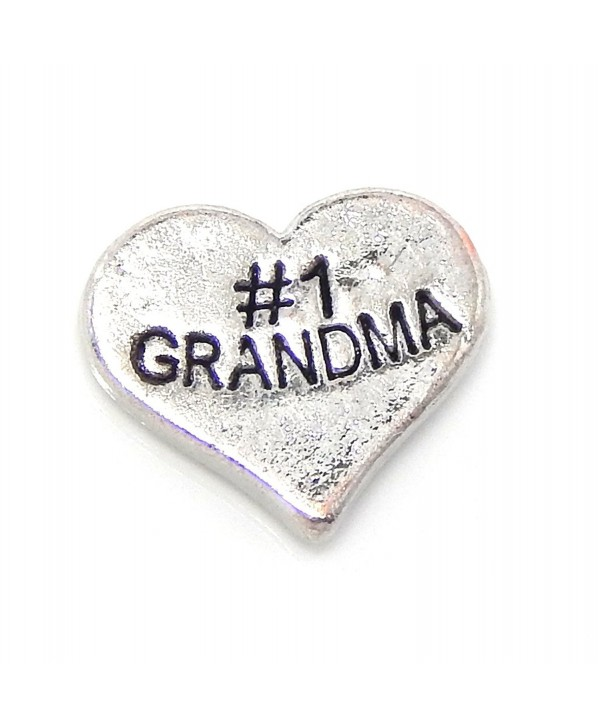 "Jewelry Monster ""1 Grandma Heart"" for Floating Charm Lockets - CJ11UISX3IR"