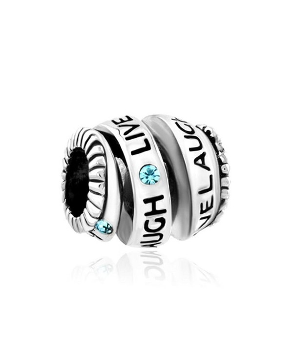ReisJewelry Live Love Laugh Charm Trinity Ring Spiral Charms Bead For Bracelet - CH1850EIAZ6