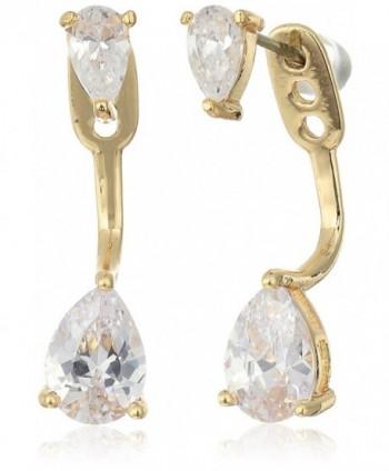 "SHASHI ""Asa"" Whitney Earrings Jacket - Yellow Gold - CR12MXKQKT3"