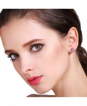 Plated Princess Square Zirconia Earrings in Women's Stud Earrings