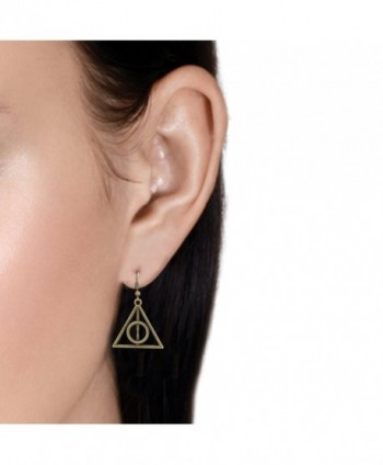 Accessorisingg Bronze Deathly Hallow Earrings in Women's Drop & Dangle Earrings