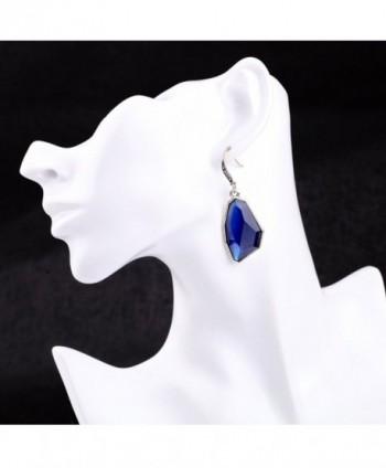 Gemstone Sapphire Bridesmaid Earrings Dangling
