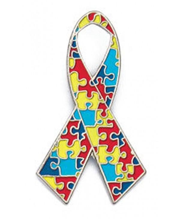 Autism Awareness Ribbon Pin Fundraiser 10 Pack - CY115UJMDWV