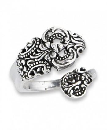 Open Adjustable Celtic Spoon Vintage Ring Sterling Silver Thumb Band Sizes 6-10 - CM18205Q4LK