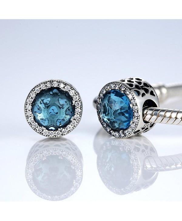 Bamoer Radiant Murano Glass Sterling Silver Charms Bead for Charms Bracelet - Murano Glass - CE12GOMZP3V