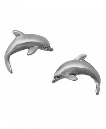 Corinna-Maria 925 Sterling Silver Dolphin Earrings Studs Tiny Mini Stainless Steel Posts and Backs - CO115VJPJ35