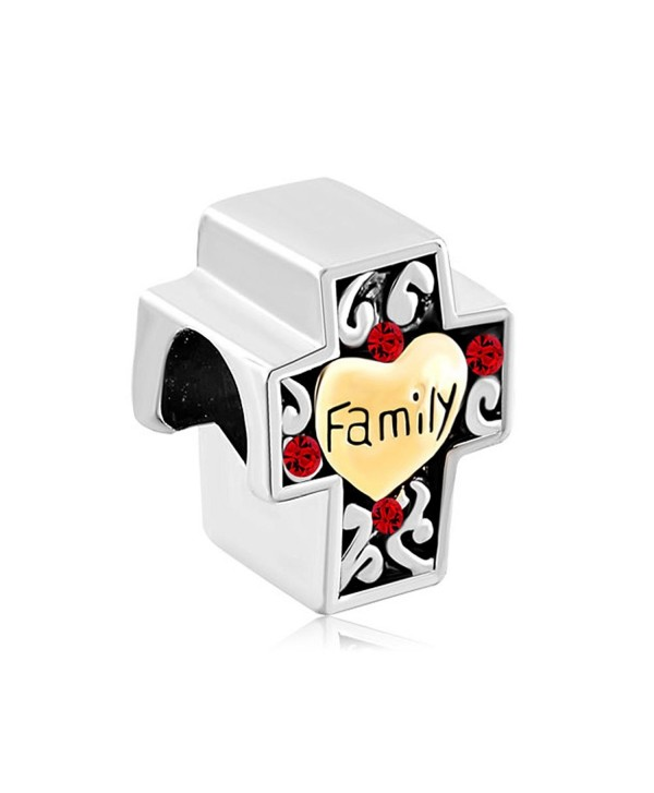 Charmed Craft Heart Love Family Religious Cross Charms or Sweet House Charms Beads for Bracelets - CY185A6YHIS