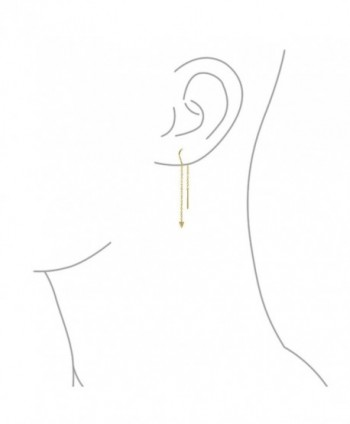 Bling Jewelry Plated Threader Earrings in Women's Drop & Dangle Earrings