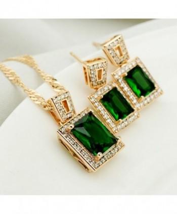 Wedding Womens Pendant Necklace Earrings