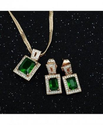 Wedding Womens Pendant Necklace Earrings in Women's Jewelry Sets