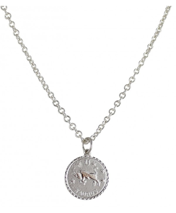 "Zodiac Horoscope Silver Plated Pendant 18"" Necklace Made in USA - CG12KKZO94T"
