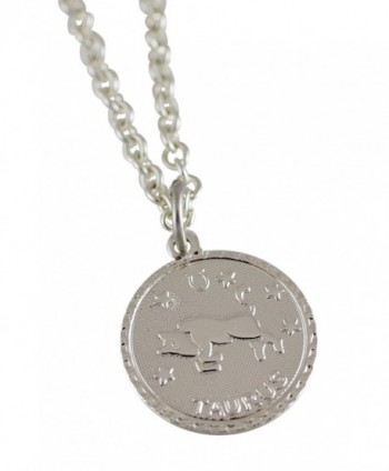Zodiac Horoscope Silver Pendant Necklace