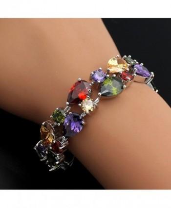 HERMOSA Classic Bracelet Amethyst Citrine in Women's Charms & Charm Bracelets