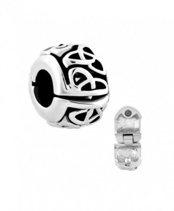 ReisJewelry Irish Celtic Knot Clip Lock Charm Spacer Charm Beads For Bracelet - CJ1868DLY9N