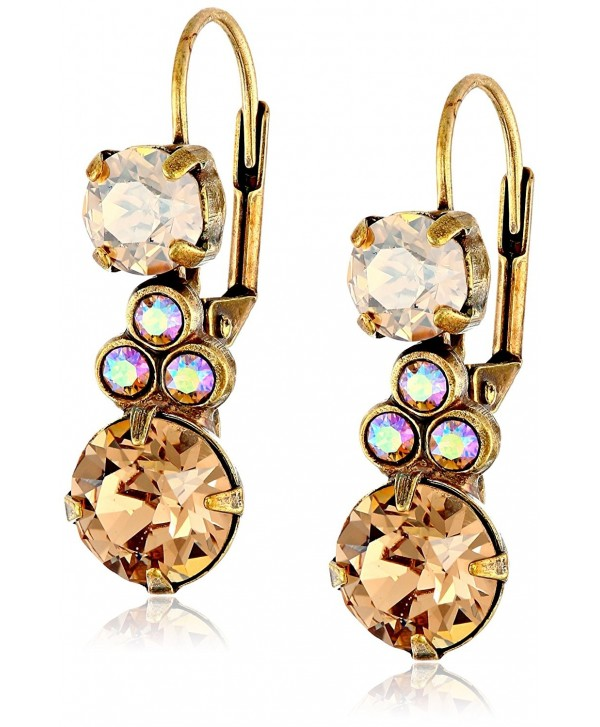 "Sorrelli ""Neutral Territory"" Clustered Circular Crystal Drop Earrings - CS11P0VXTHH"